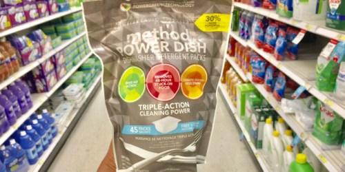 Target Shoppers! Over 30% Off Method Power Dishwasher Detergent Packs