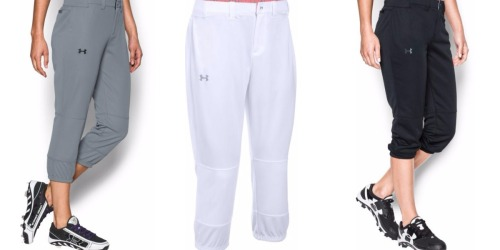 Dick's Sporting Goods: Under Armour Women's Baseball Pants Only $9.98 (Regularly $29.99) + More