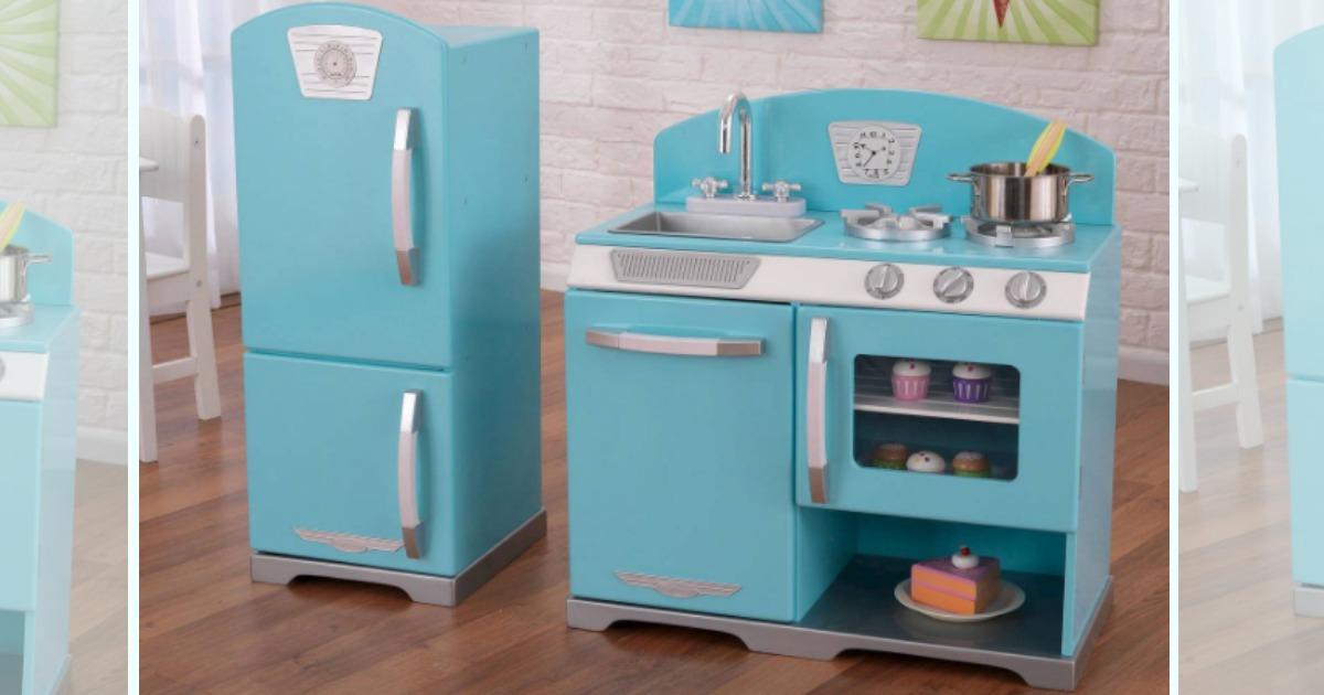 Kidkraft Retro Kitchen And Refrigerator Set Just 106 24 Shipped Hip2save