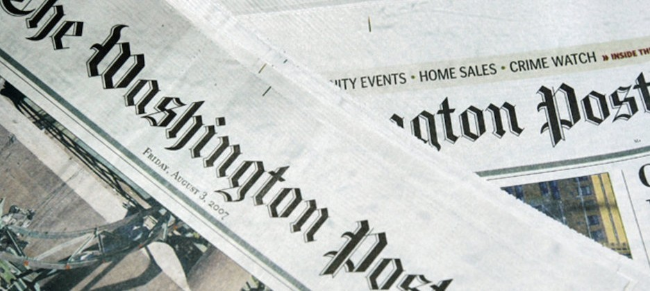 Closeup of The Washington Post