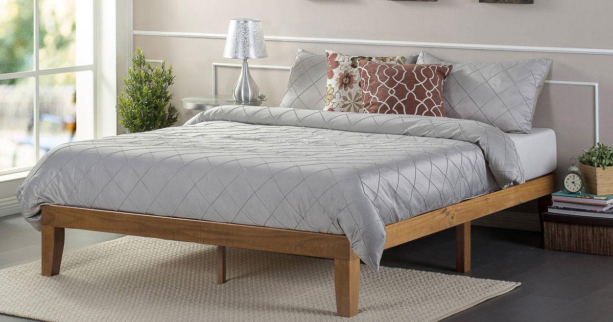 Walmart Queen Size Platform Bed 91 55 Shipped Hip2save