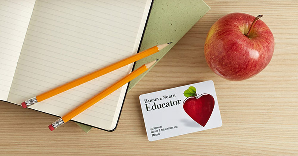 Teachers looking for discounts, we've got you covered – Barnes & Noble Educator card and an apple