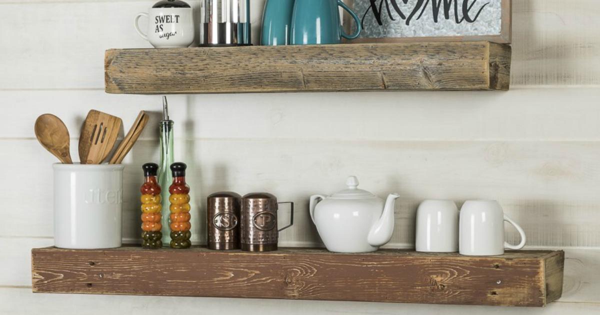 barnwood floating shelves set of 2 jane 2