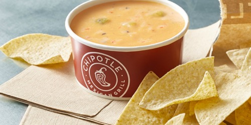 Chipotle is Offering FREE Queso Today Only + Free Delivery Extended Through 4/30