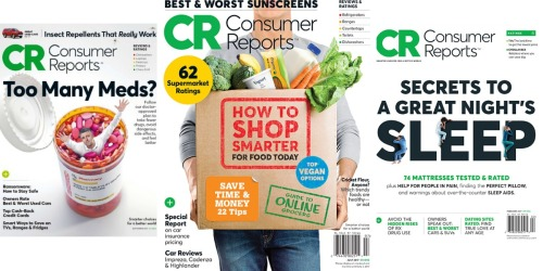 Consumer Reports Magazine 1-Year Subscription Only $17.99 (Just $1.38 Per Issue)
