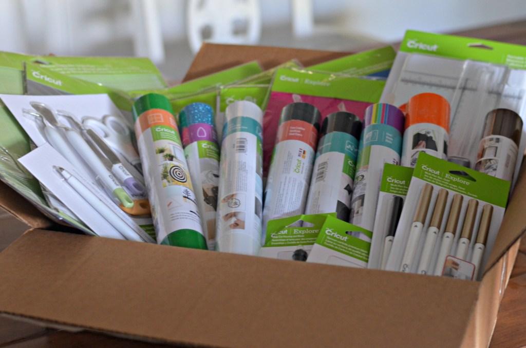 box full of Cricut Tools