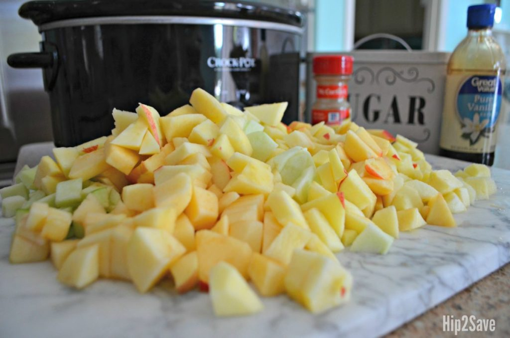 making apple butter in the Crock-Pot