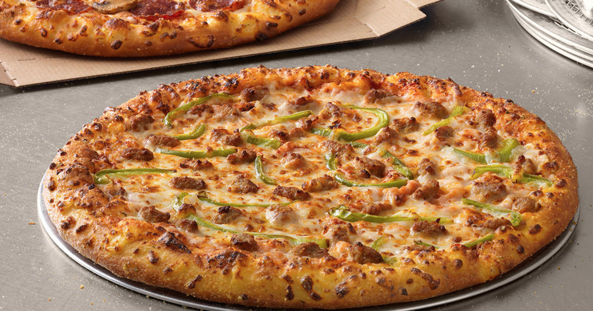 Domino S Large 2 Topping Pizzas Just 5 99 Each Carryout Only Hip2save
