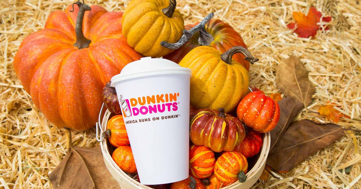 pumpkin maple coffee fall dunkin donuts - coffee cup in a pumpkin crate