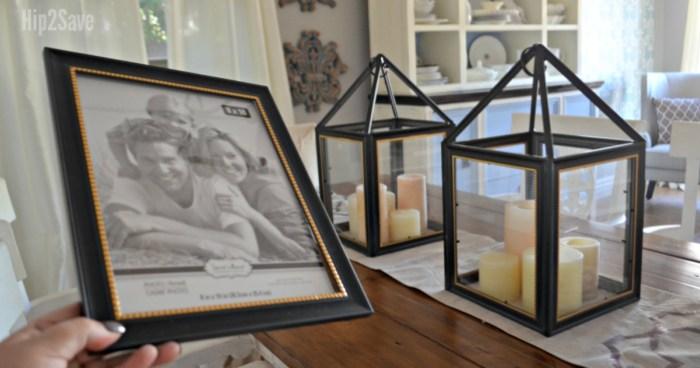 Diy Dollar Tree Picture Frame Lanterns Hip2save