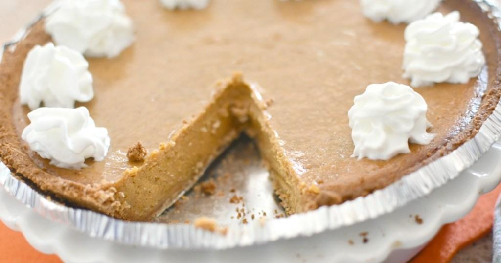 easy pumpkin pie with a graham cracker crust