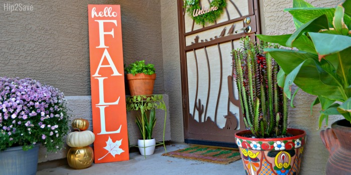 Reversible Wood Sign Craft (Fall and Christmas)