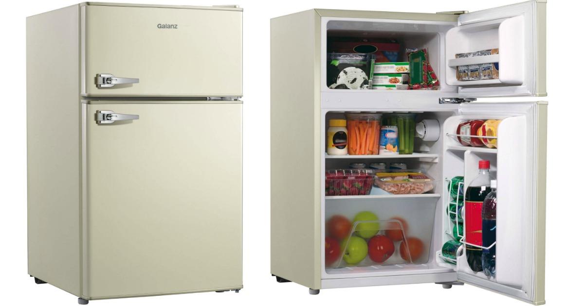 Retro Mini Refrigerator Freezer Only 43 90
