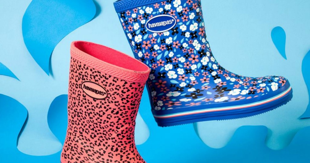 6e32783b7af9a Hop on over to Zulily where you can save up to 65% off Havaianas Rain Boots.  There are styles and sizes available for women and kids with prices  starting at ...