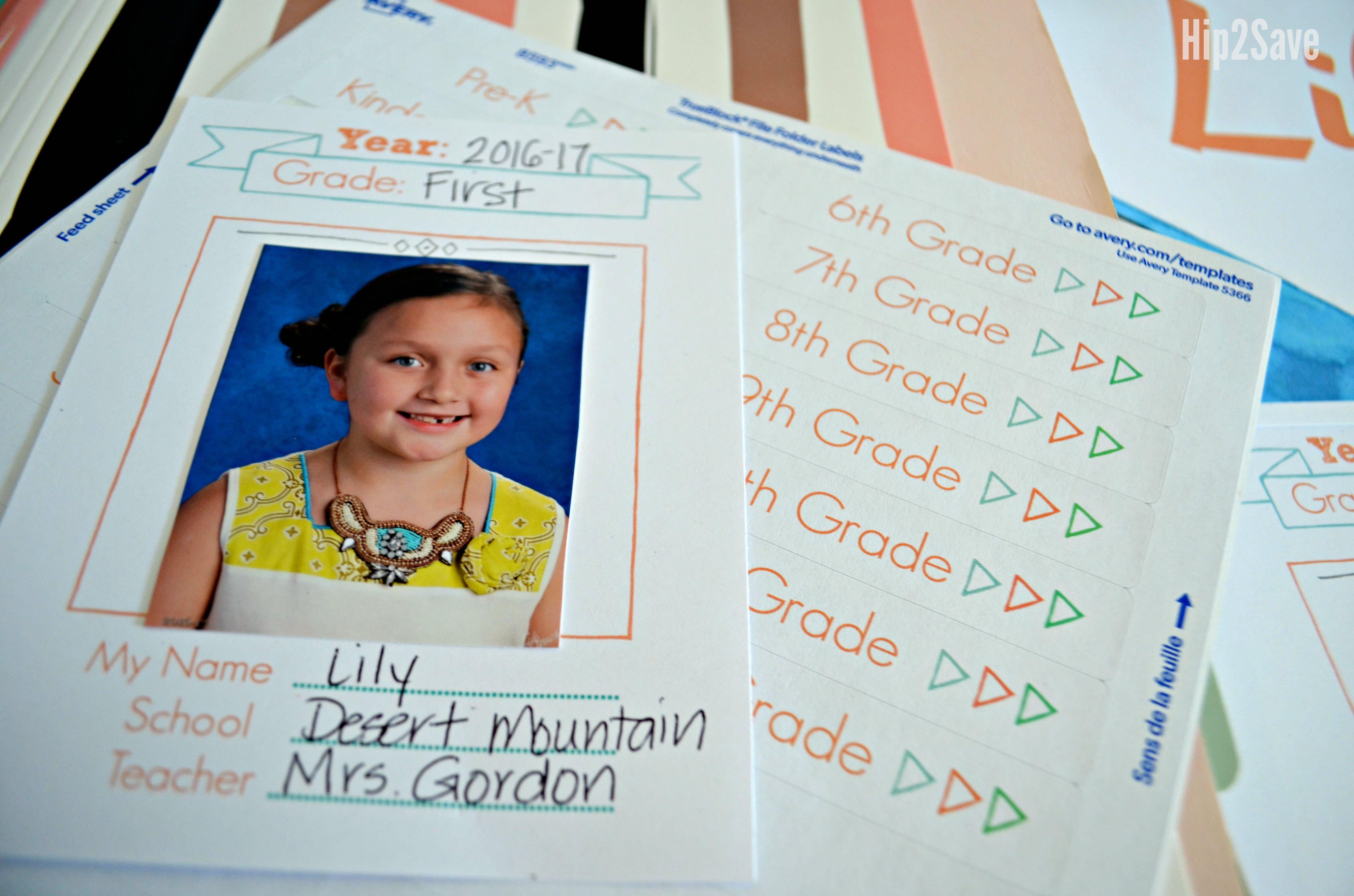 printables for school paper organizer