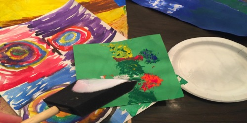 Not Sure What To Do With All Your Kid's Artwork? Thank You, Mod Podge.
