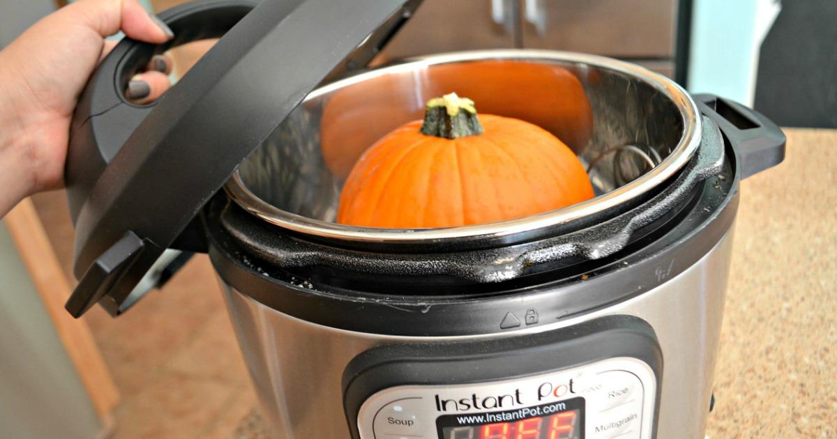 instant pot tips, hacks, and recipes – pumpkin inside of an Instant Pot