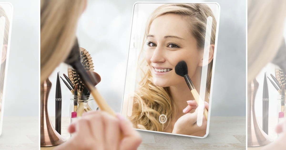 Amazon Led Lighted Makeup Mirror Just 13 29 More