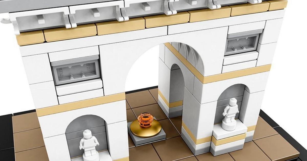 amazon lego arc de triomphe building set only. Black Bedroom Furniture Sets. Home Design Ideas