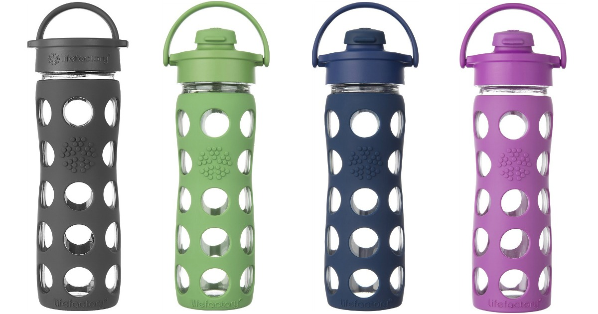 Best Buy: 50% Off Lifefactory Glass Water Bottles - Hip2Save