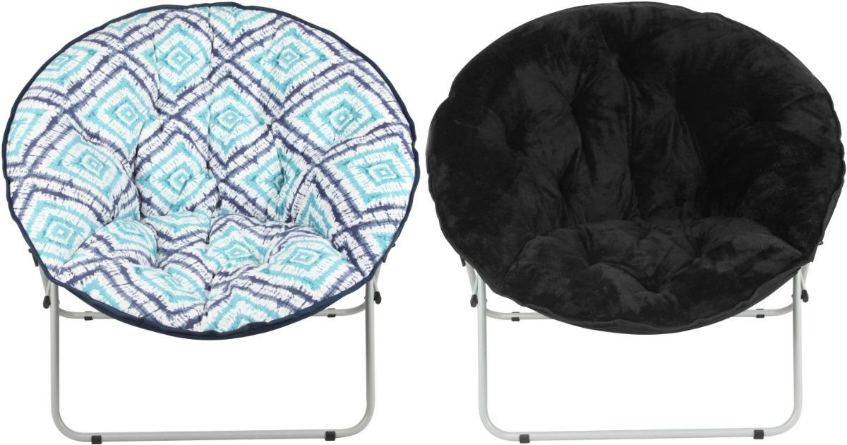Awesome Walmart Com Mainstays Oversize Saucer Chairs Only 19 97 Home Interior And Landscaping Sapresignezvosmurscom