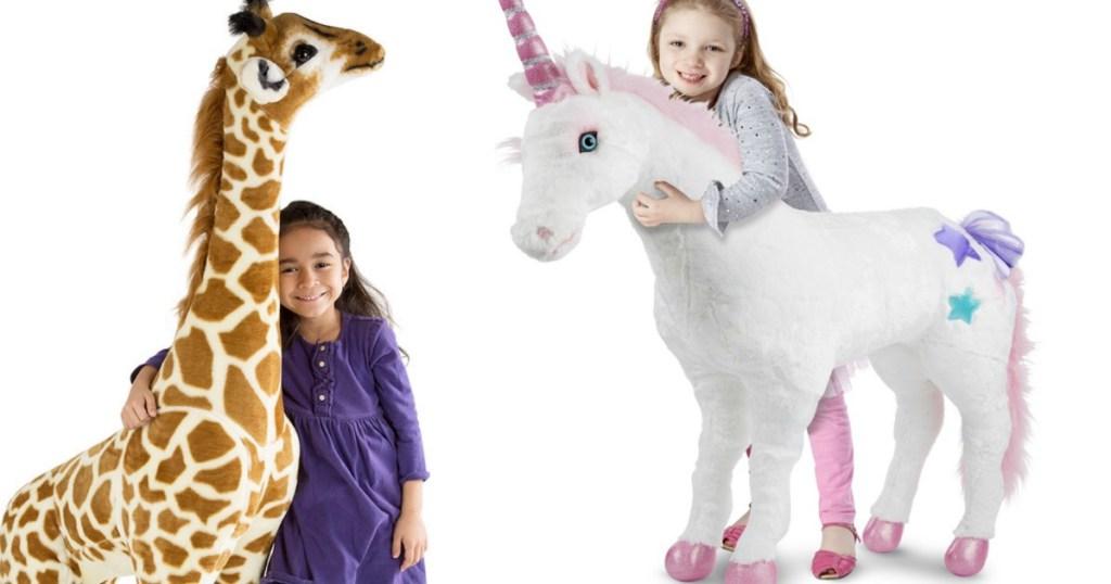 Kohls Melissa Doug Giant Plush Unicorn Or Giraffe Only 5759
