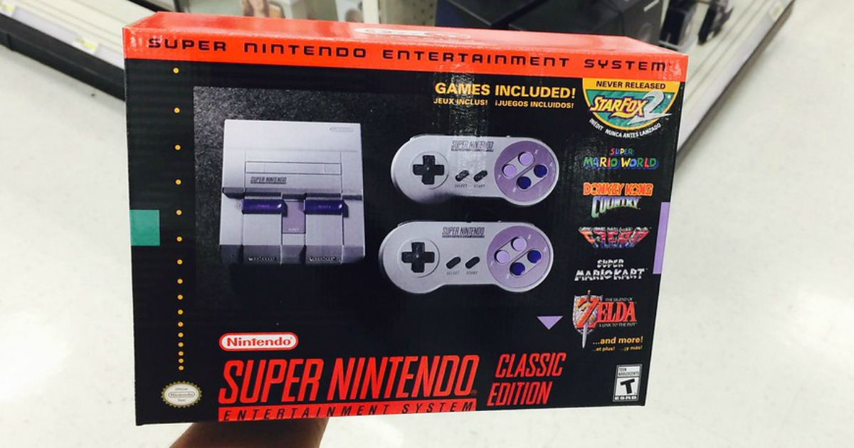 Nintendo Super Nes Classic Edition In Stock At Toysrus October 27th