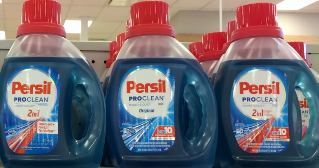 Persil brand laundry detergent on store shelf