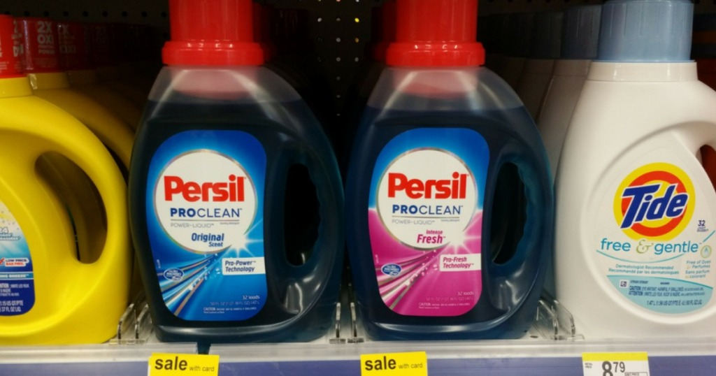 Persil laundry detergent at Walgreens