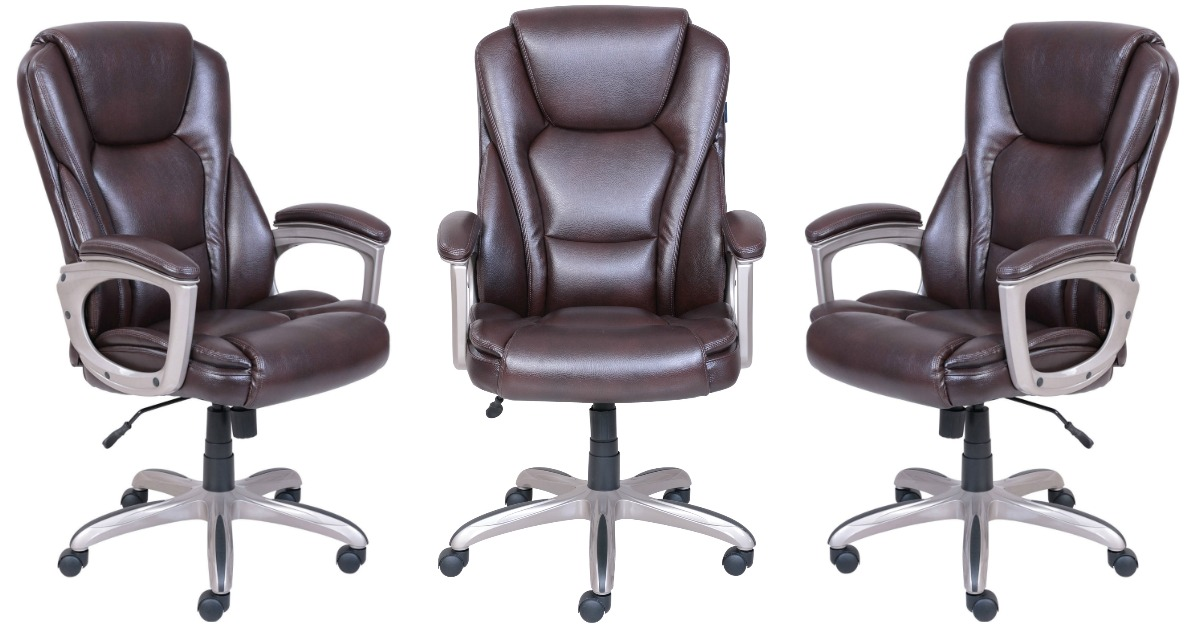 Serta Big Tall Office Chair With Memory Foam Only 99 Shipped