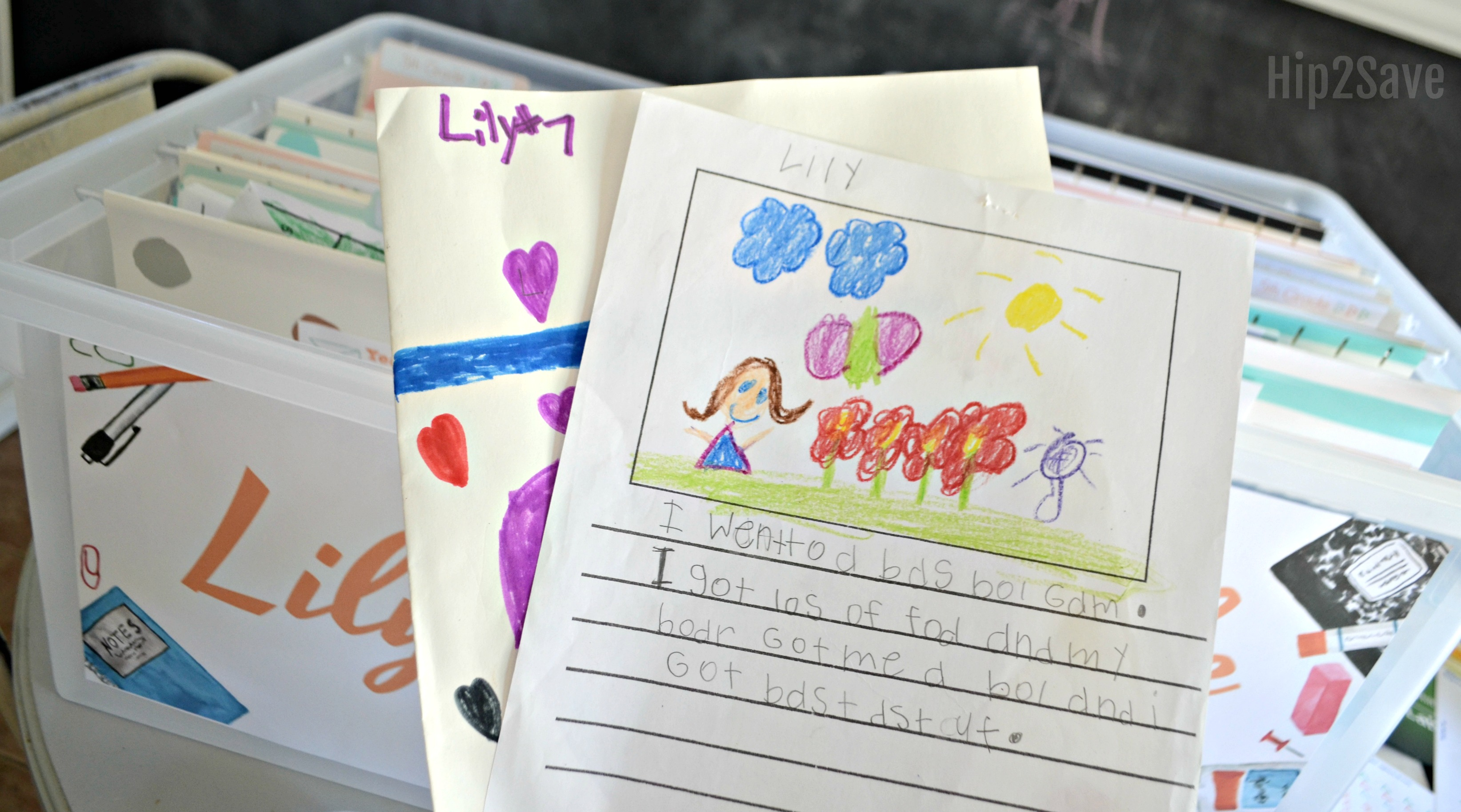 school paper organizer for kids' papers