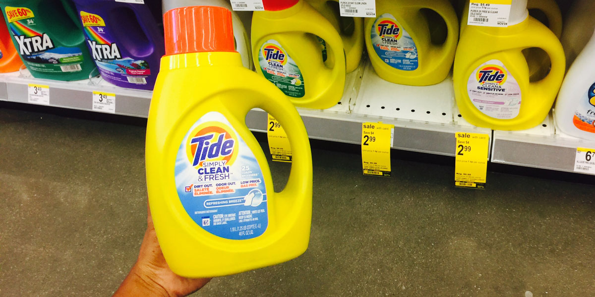 photograph relating to Tide Simply Clean Printable Coupons identified as Tide Very easily Detergent As Minimal As $1.94 at CVS Walgreens