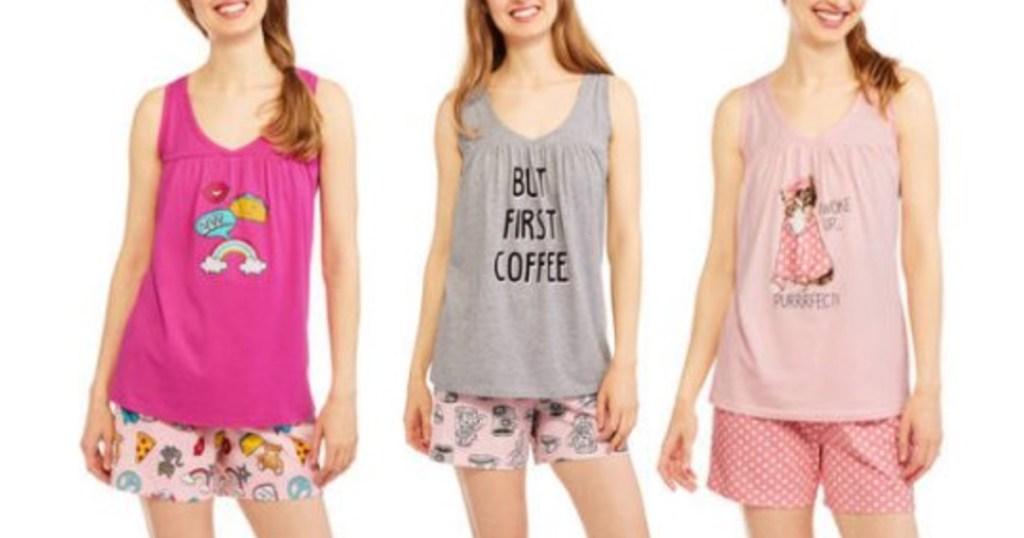 b5654271e452d9 Walmart.com  Women s 2-Piece Pajama Sets Only  4.50- 5.50 (Regularly  10+)