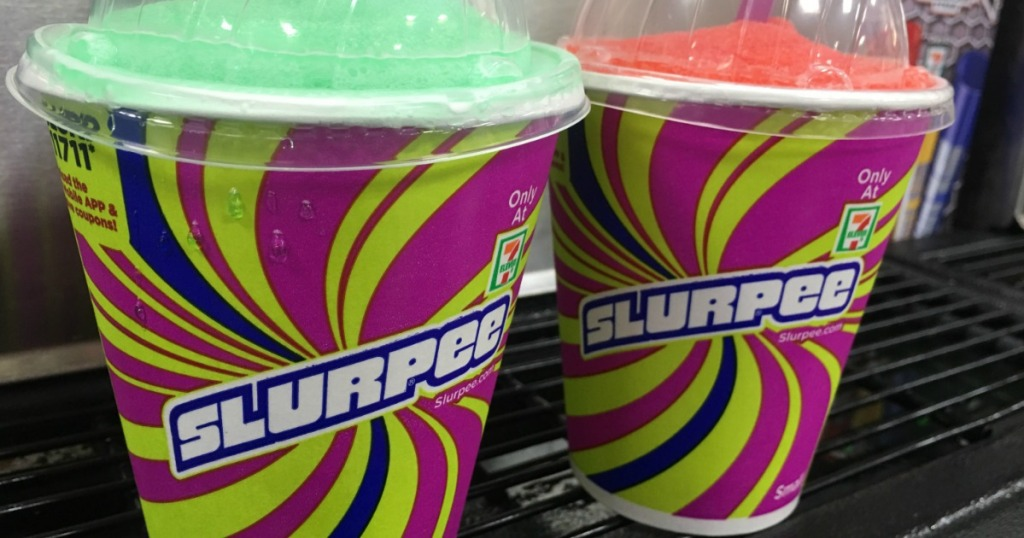green and red 78-eleven slurpees