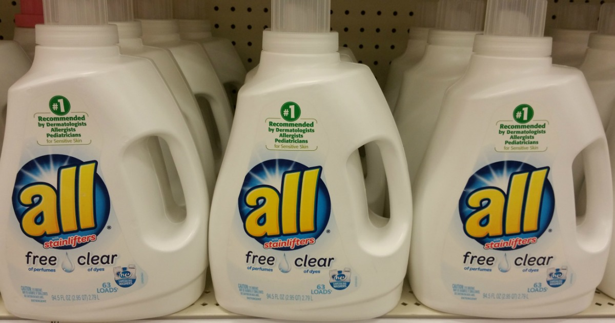 New $1/1 All Laundry Detergent Coupon = Only $1 99 at CVS