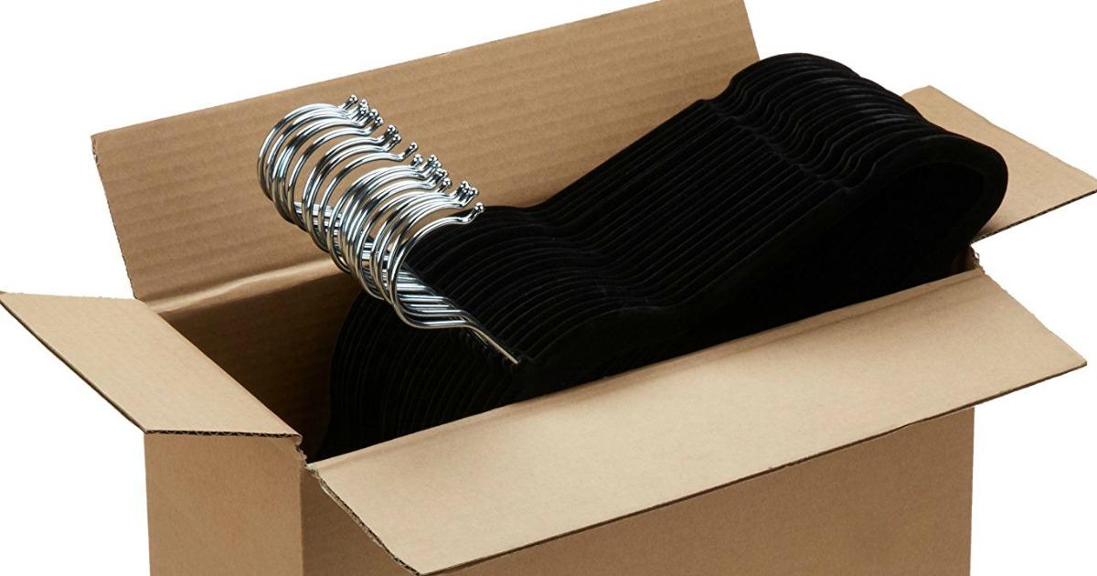 black velvet hangers in box