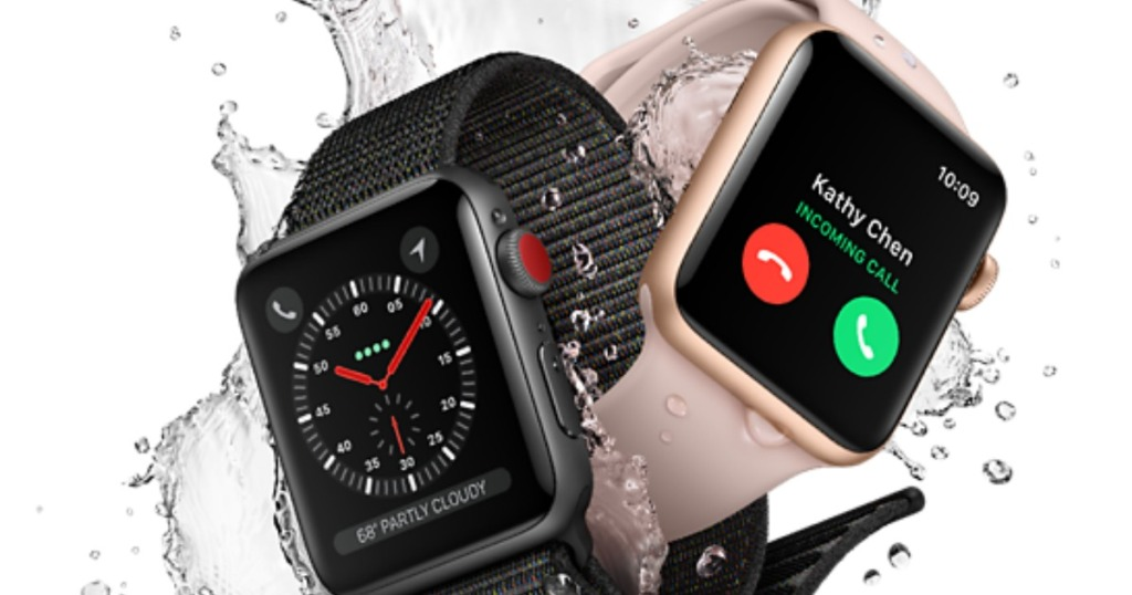select apple watches series 4 stock image