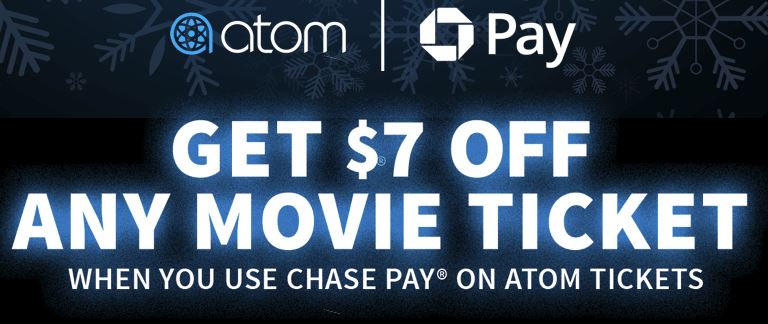 atom tickets chase pay