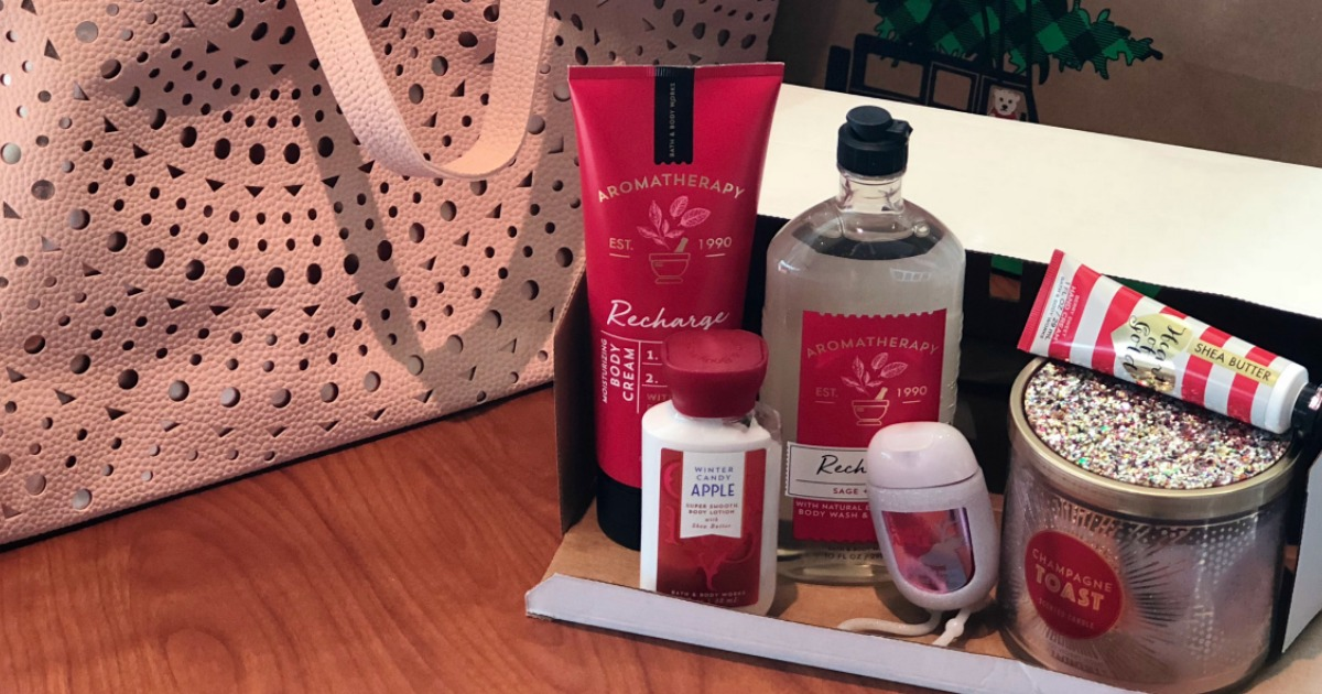 Bath Amp Body Works Black Friday Tote W 7 Full Size Items