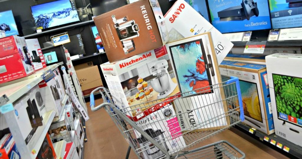 cart full of black friday deals