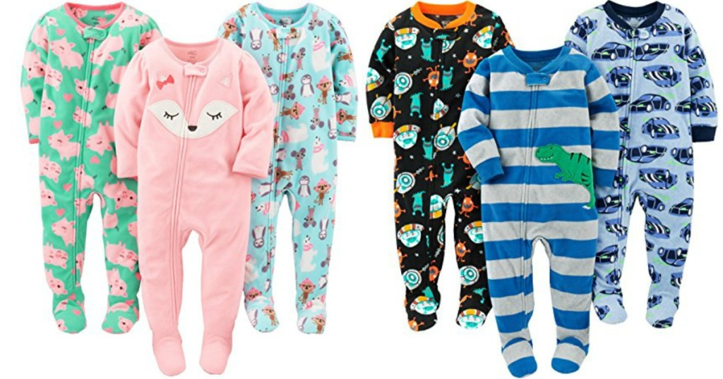 0d415b38e Simple Joys by Carter's 2-pack Holiday Footed Pajamas Only $9.99 shipped  (regularly $16.99) – just $4.99 each!