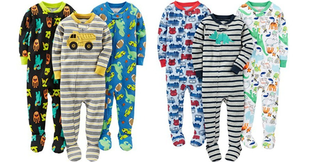 simple joys by carters boys 3 pack snug fit footed cotton pajamas only 1499 shipped regularly 2699 499 each
