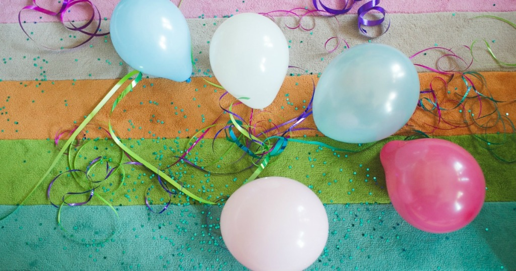 big thank you contest winners – balloons, streamers, and confetti
