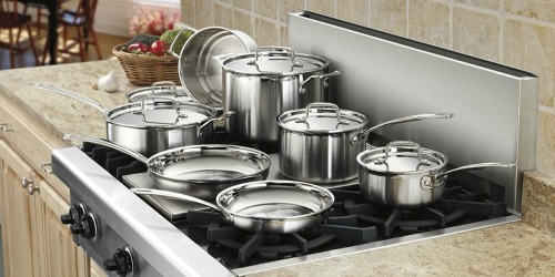 Cuisinart Multiclad Pro Stainless Steel 12-Piece Cookware Set Just $159.99 Shipped at Amazon (Regularly $198)