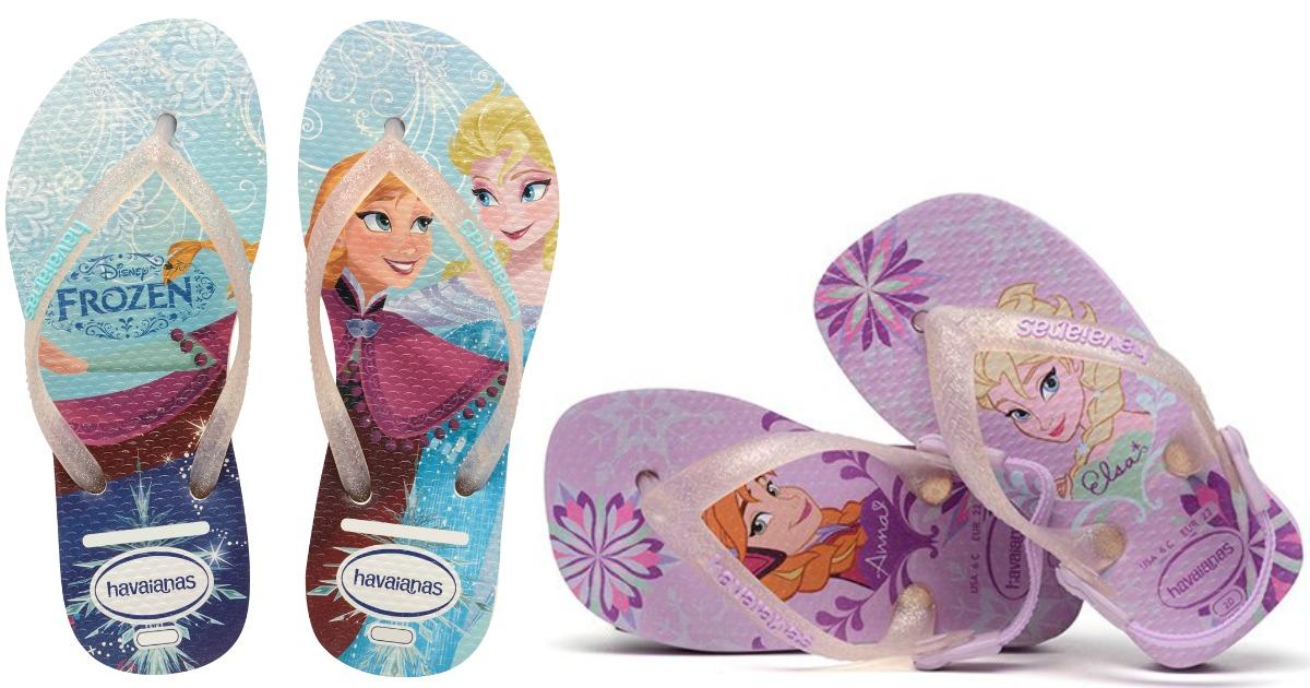 b50100e85 Zulily  75% Off Disney Frozen Havaianas Flip Flops - Hip2Save
