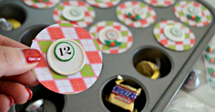 DIY Muffin Tin Christmas Advent Calendar