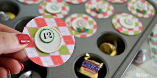 DIY Muffin Tin Christmas Advent Calendar