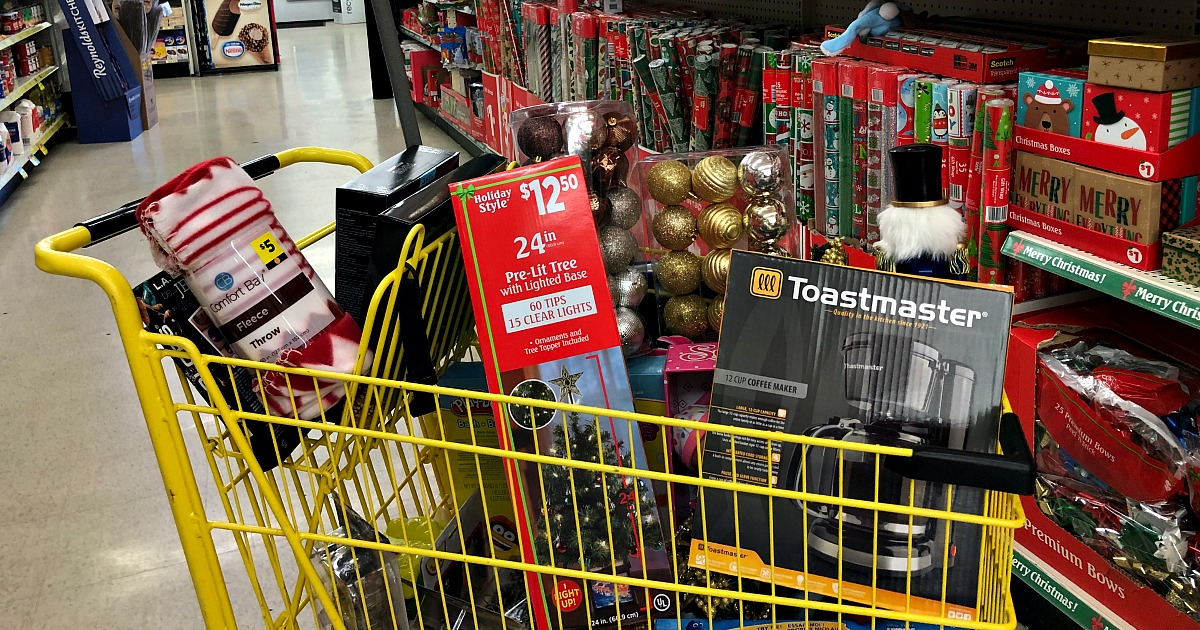 Dollar General cart filled with Black Friday deals