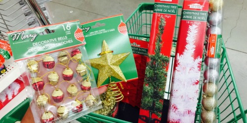 Mini Christmas Trees + All the Trimmings Only $1 Each at Dollar Tree