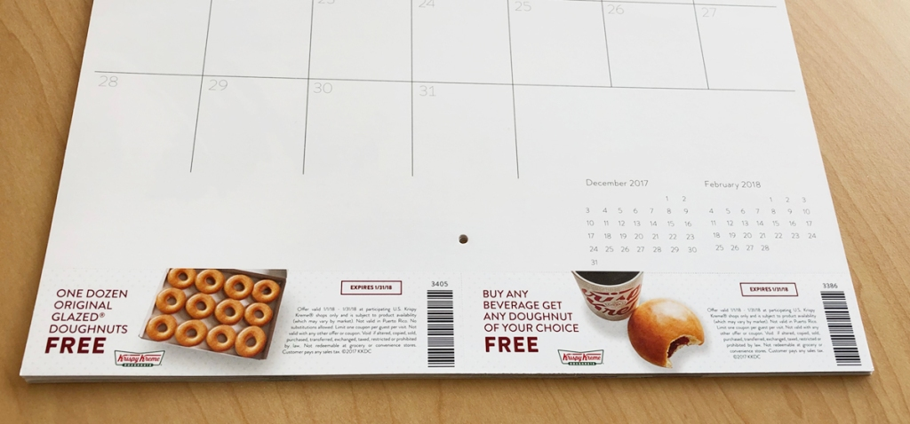 Krispy Kreme Calendar.Krispy Kreme 2018 Calendar Available 110 In Coupons Including